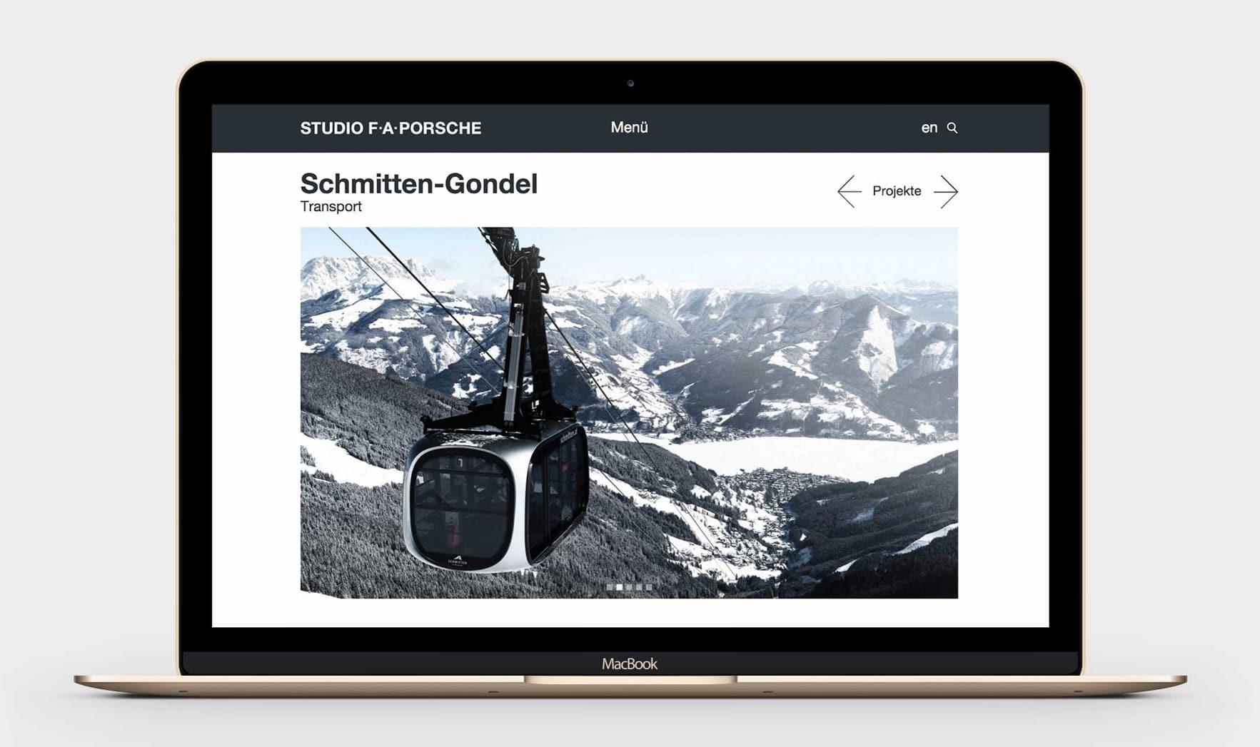 Studio F. A. Porsche - Webdesign