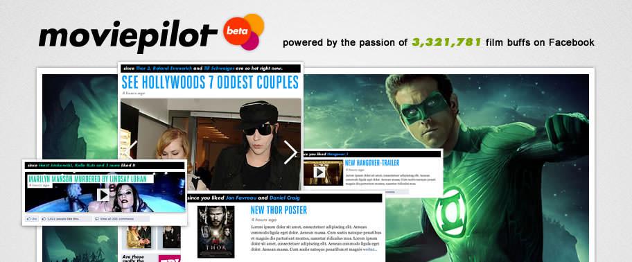 Webdesign und Beratung: Moviepilot.com
