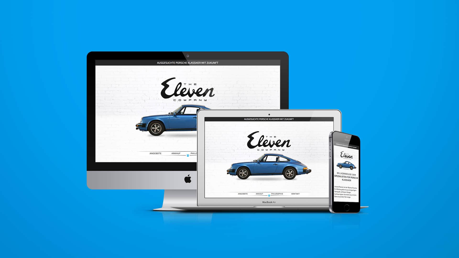 The Eleven Company - Webdesign