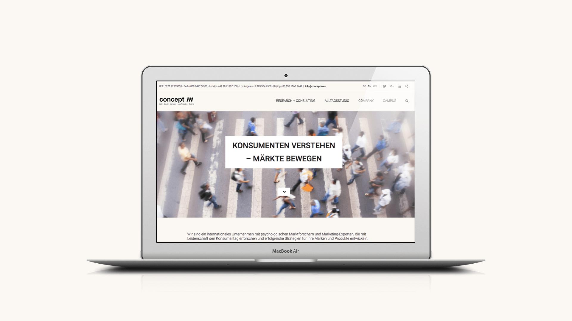 REDESIGN WEBSITE: Concept M