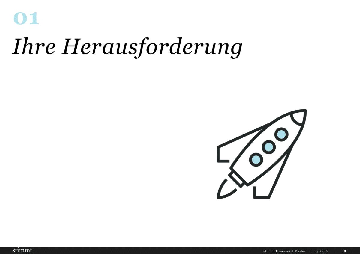 Powerpoint Gestaltung Kapitelseite