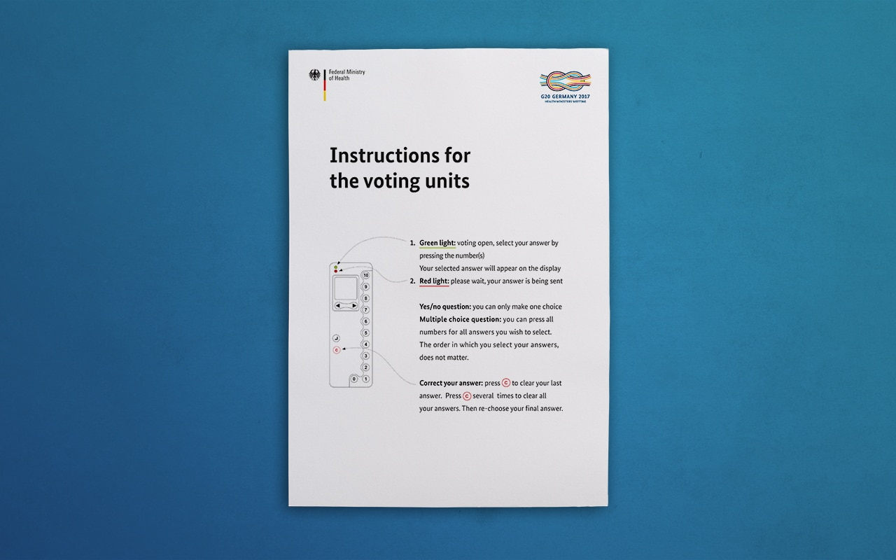 GIZ-G20 Instuctions for the voting untis