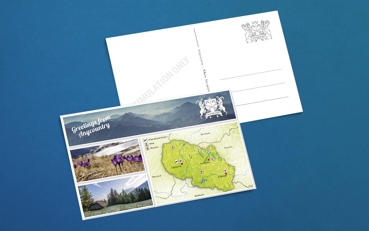GIZ-G20-Postkarte Eventdesign