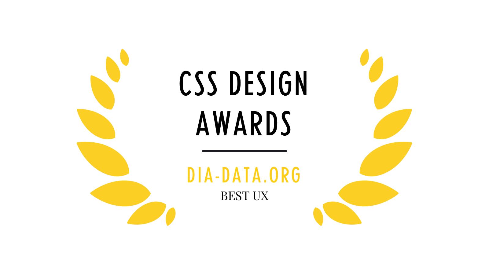 CSS DESIGN AWARD DiaCSS DESIGN AWARD Dia
